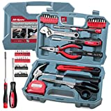 Hi-Spec 49 Piece Household DIY Tool Kit with Hand Tools & Precision Screwdriver Bits for Home Electronics Repair