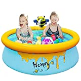 Piscina infantil para niños, piscina infantil para adultos, grande, diámetro 150 x 45 cm, piscina hinchable para bebés, piscina de jardín para adultos, bebés y actividades al aire libre