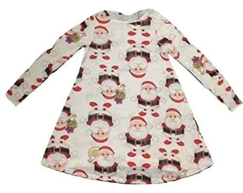 Momo&Ayat Fashions Kids Girls Christmas Santa Gifts Flared Swing Mini Jurk Leeftijd 1-12 Jaar