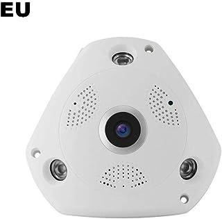 pretty-H - Mini cámara de seguridad de 360 grados, HD 960P 130 MP, objetivo de vigilancia en el hogar de teléfono móvil, WiFi con mando a distancia
