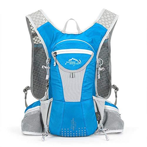 WOOAI Sac d'hydratation VTT Sac de vélo Vélo Équipement extérieur Escalade Randonnée Respirant Plein air Vélo Sac à Dos Sac à Dos, Couleur: Bleu
