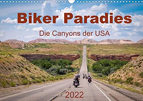 Biker Paradies - Die Canyons der USA (Wandkalender 2022 DIN A3 quer)