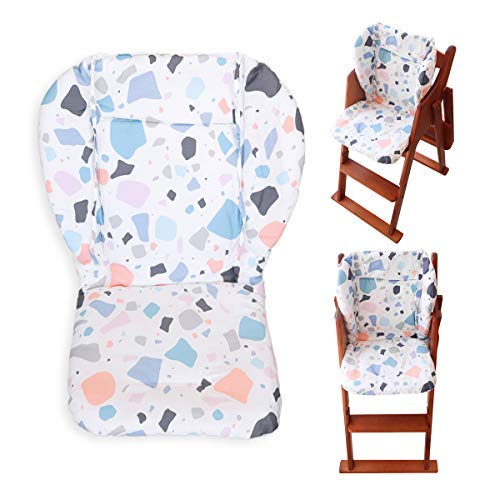 Myukbest Baby High Chair Cushion, Thick Pad for Wooden High Chair, Baby Dining Chair Liner Mat(Geometric Patterns)