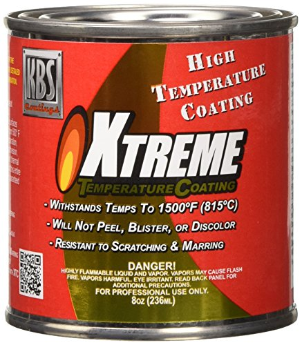 KBS Coatings 65205 Cast Iron Grey Xtreme Temperature Coating - 8 fl. oz.
