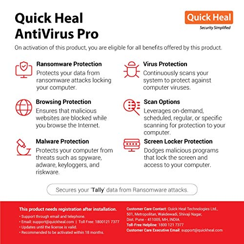 Quick Heal Antivirus Pro Latest Version - 2 PCs, 3 Years (Email Delivery in 2 hours- No CD) 2