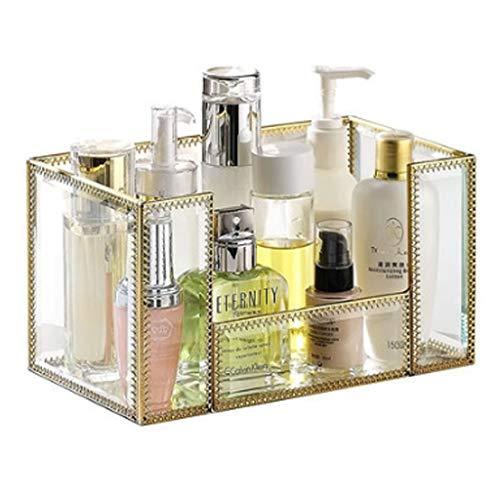 PHH Boîte de Rangement Boîte de Rangement pour cosmétiques Boîte de Rangement pour Fille (Color : Gold, Size : 25x14.5x13cm)