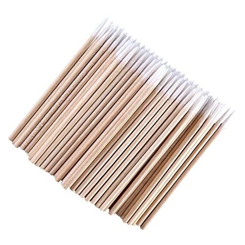 Tête pointue coton en bois 300 pcs bâtonnets 6,5 cm Microblading en coton Maquillage Applicateur