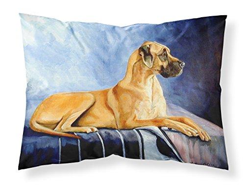 Caroline's Treasures 7204PILLOWCASE Natürliches Rehkitz Deutsche Dogge, feuchtigkeitsableitender Stoff, Standard-Kissenbezug, groß, Mehrfarbig