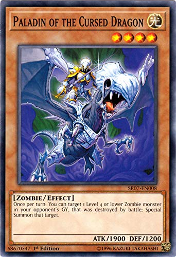 Yu-Gi-Oh! - Paladin of The Cursed Dragon - SR07-EN008 - Common - 1st Edition - Structure Deck: Zombie Horde
