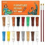 Wood Filler, XunaiLiy Wood Furniture Repair Kit, 16 Colors Hardwood...