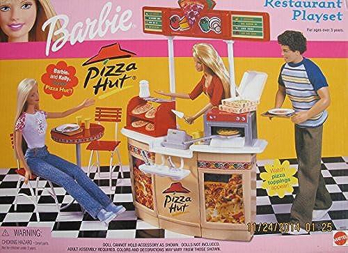 Barbie Pizza HUT Restaurant Playset (2001) by Mattel