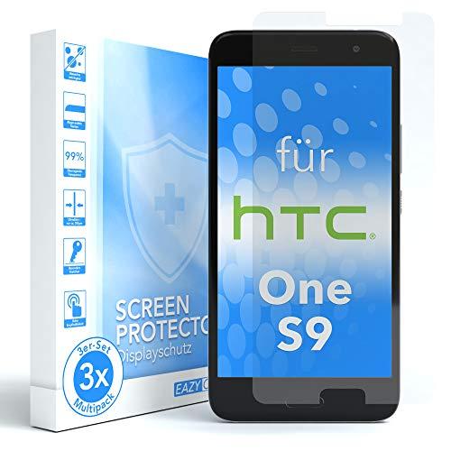EAZY CASE 3X Bildschirmschutzfolie für HTC One S9, nur 0,05 mm dick I Bildschirmschutz, Schutzfolie, Bildschirmfolie, Transparent/Kristallklar