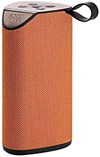 GT111 Portable Wireless Bluetooth Speakers Mega Bass Splash Proof,USB,FM,TF Card and AUX Cable (Orange)