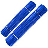 Waycreat 200 Pieces Pipe Cleaners Blue Chenille Stem for DIY Art Craft Decorations (6mm x 12 Inch)