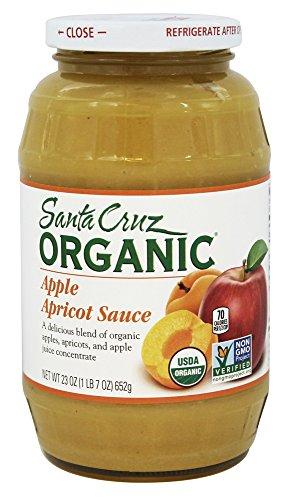 Santa Cruz Organic - Organic Apple Sauce Apricot - 23 oz. (Pack of 2)
