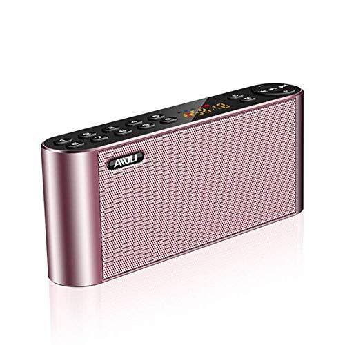 MYPNB Radio portátil, teléfono móvil del Altavoz de Bluetooth de Radio inalámbrica Ventilador insertado Subwoofer U Altavoz del Disco, for Caminar Que va de excursión (Color : A)