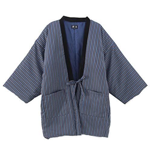Fancy Pumpkin Unisex-Kimono-Jacke aus Baumwolle Japanese Retro Warm Thick Coat-C2