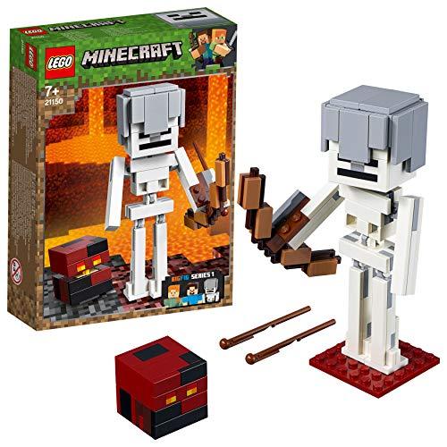 LEGO® Minecraft™ Bigfigurine Squelette avec un cube de magma Jeu de construction, 7 Ans et Plus, 142 Pièces 21150