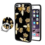 Queen Bee iPhone 7 8 Phone Case with Ring Holder Stand, Shockproof Soft TPU Premium PC Protective Bumper 360 Degree Rotation Ring Stand for iPhone 7 8-Black