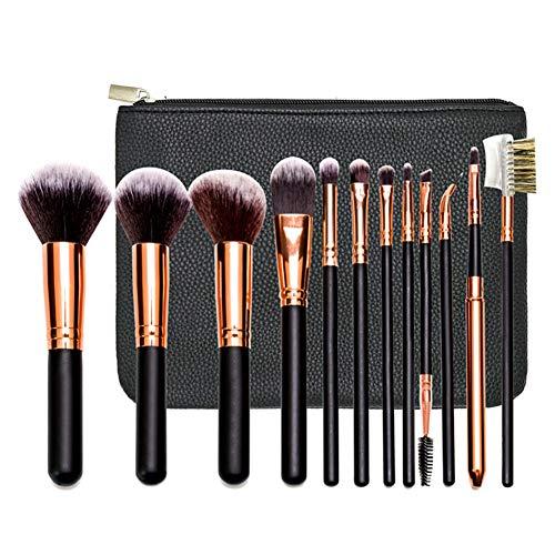12 Pcs Ombre Pinceau De Maquillage Mis Outils Artiste Maquillage Professionnel Oeil Brosse Blush Réparation Peigne Sourcils Brosse De Volume