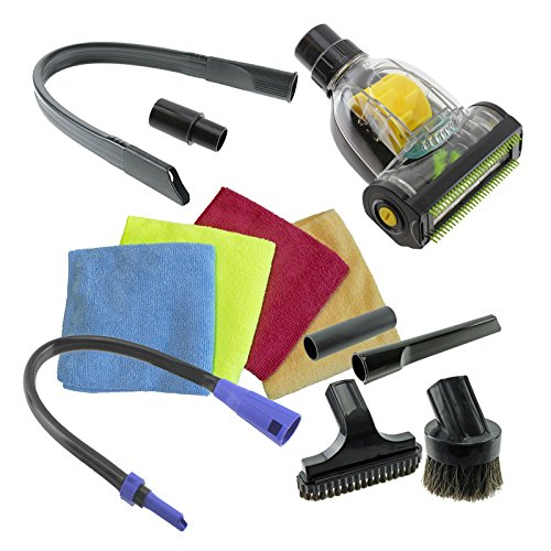Spares2go squalo auto Valet kit Turbo per pavimenti, bocchetta per tappezzeria per aspirapolvere (32mm/35mm)