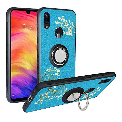 Funda para Xiaomi Redmi 7,Fashion Design [Antigolpes] con 360 Anillo iman Soporte, Resistente a los arañazos TPU Funda Protectora Case Cover para Redmi Y3,Flower