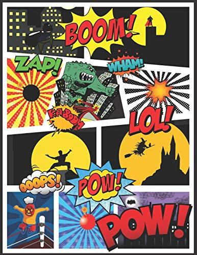 Crea i Tuoi Fumetti: album per disegnare Comico A4 100 pagine regalo per Sio adulti ragazzi e bambini