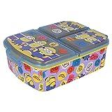 Stor Minions 2 | Sandwichera con 3 Compartimentos para niños - lonchera Infantil - Porta merienda - Fiambrera Decorada