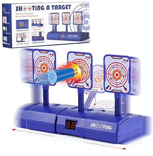 HIYUTOY Electronic Scoring Target for Nerf NStrike Elite/Mega/Rival Series Kids Toy AutoReset Intelligent Light Sound Effect Scoring Target for Mega and Rival Series (Only Target)