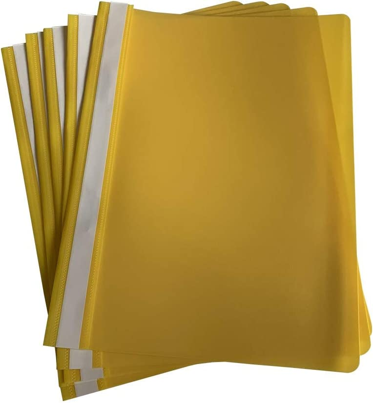 Max 49% OFF Pack Fixed price for sale of 12 A4 Project Folders Yellow by Janrax