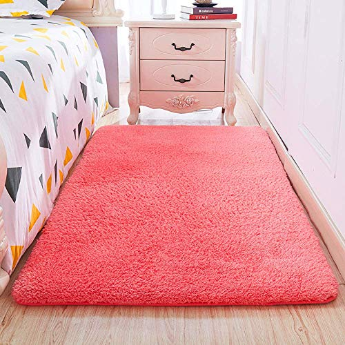 WFFF Soft Plush Rugs Rectangle Floor Mat Lamb Cashmere Carpet For Bedroom Bedside Living Room Coffee Table Sofa Blanket