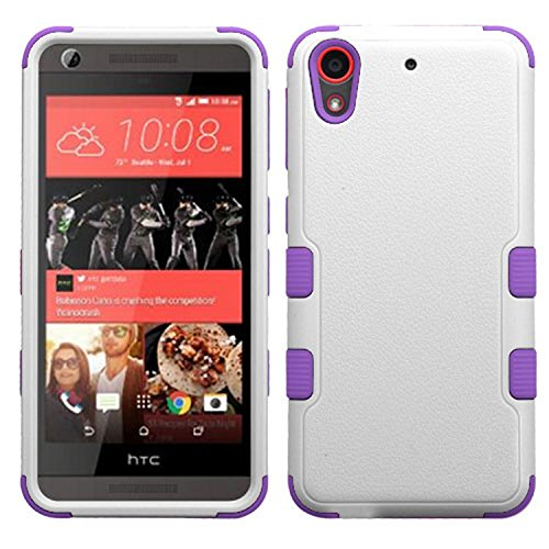 MyBat Cell Phone Case for HTC Desire 626/626S - Retail Packaging - Ivory/Purple/White