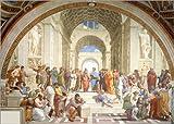 Poster 100 x 70 cm: Die Schule von Athen von Raffael -