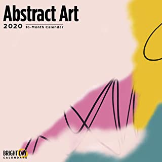 2020 Abstract Art by Justin Victoria Wall Calendar by Bright Day, 16 Month 12 x 12 Inch, Artist Collection