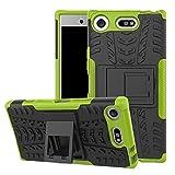 Lapinette Funda Compatible con Sony Xperia XZ1 Antigolpes - Carcasa Xperia XZ1 Protección Antigolpes - Funda Sony Xperia XZ1 Antigolpes Rígida Modelo Spider Verde
