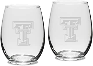 University Glass NCAA Texas Tech Red Raiders Maxim Mug Set of 2 Clear 17.5 oz