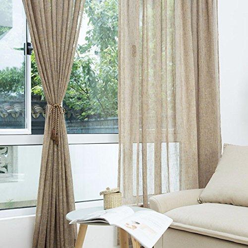 QPGGP Rideaux Fils De Coton Linge De Couleur Des Imitations Style Fenêtre Balcon Étage Salle Rideau Qui Ombrage La Chambre,B