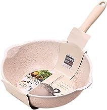 PPSM Frying Pan, Beige Pan Small Frying Pan Non-stick Cooker Non-stick Cooker Nougat Home Wok Deep Frying Pan Wok Inductio...