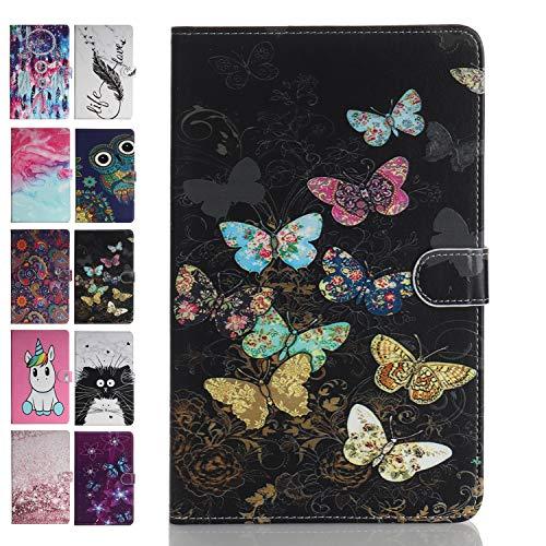 Ancase Tablet PC Marmo Custodia per Universale 8 Pollici (7.5-8.5) Disegni Samsung Huawei Apple Lenovo Tablet 8.0 7.9 8.4 Pollici Flip Cover in Pelle aLibro Case Porta Carte - Farfalla Colorata