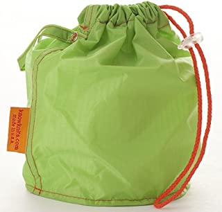 Green Large GoKnit Pouch Project Bag w/ Loop & Drawstrings