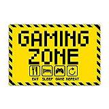Gaming Zone Schild 20 x 30 cm eat Sleep Game Repeat für Gamer aus Stabiler PVC...
