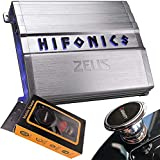Hifonics ZG-600.4 600W Zeus Gamma Series 4-Channel Car Audio Subwoofer Amplifier with Gravity Magnet Phone Holder