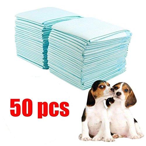 Civigroupey Hygieneunterlagen für Haustiere 50 Stück 60x45cm Puppy Training Pads, Welpen trainingsunterlagen,Extra Saugstarke Welpenunterlage