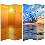 Oriental Furniture 6 ft. Tall Double Sided Sunrise Room Divider