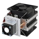 Presentimer 12V pequeño circulación de Agua congelador semiconductor refrigerador de refrigeración refrigerador del radiador refrigerador Ventilador Sistema de refrigeración
