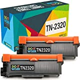 Do it wiser TN2320 Cartuchos de Tóner Compatibles para usar en lugar de Brother HL-L2300D HL-L2340DW MFC-L2700DW HL-L2320D DCP-L2500D L2520DW L2540DN HL-L2300D L2340DW L2360DN L2365DW (Pack de 2)