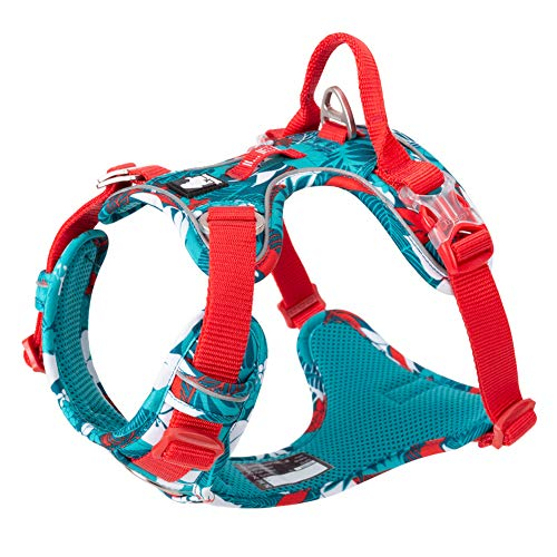 Chai's Choice Best Tropic Thunder Edition Dog Harness with Quick-Release Neck Strap for Easy On-Off. Large, Small, Medium Dogs. Please Measure Before Ordering.