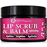 Vital Organics Lip Scrub & Balm Gentle Exfoliation, Lip Moisturizer, Ultra-Hydrating & Conditioner