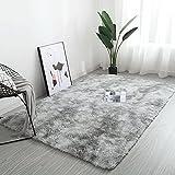 YORKING 160x230cm Fluffy Faux Lammfell Teppich Anti-Rutsch-Pelzbereich Esszimmer Teppich Bodenmatte Schlafzimmer Sofa Home Decor Teppich Wassergrau