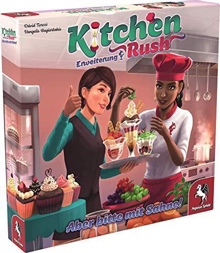 Pegasus Spiele 51228G Kitchen Rush: Aber Bitte mit Sahne [Erweiterung], Keine